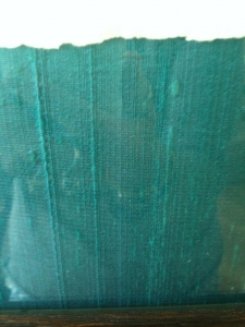 The textured weave of the raw silk
