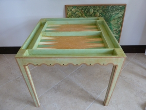 Green backgammon board