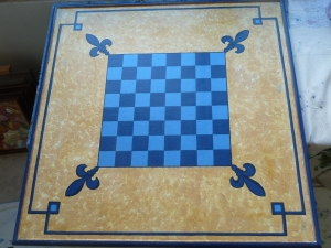 Blue chess board