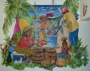Mural at Papa Zouk, Antigua